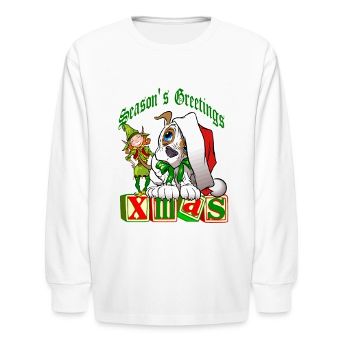 Season's Greetings Long Sleeve T-Shirt For Kids - Kids' Long Sleeve T-Shirt