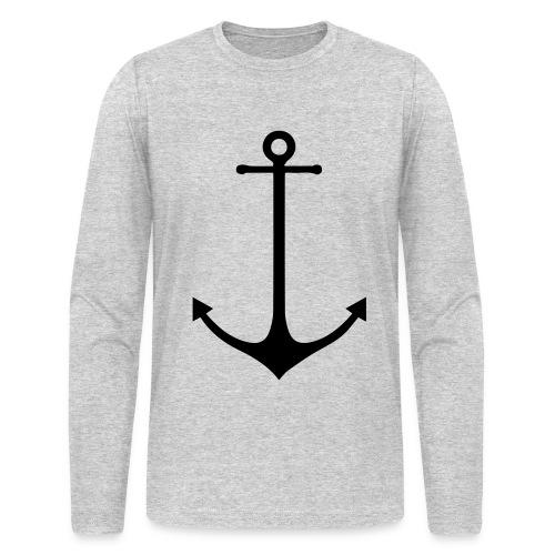 Old Captain Black Anchor Print - Men's Long Sleeve T-Shirt by Next Level