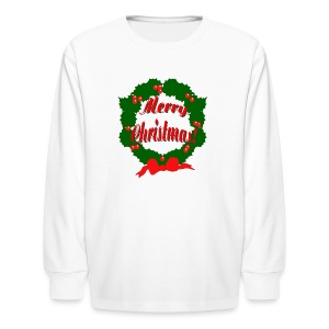 Merry Christmas Reef Long Sleeve T-Shirt For Kids - Kids' Long Sleeve T-Shirt