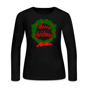 Merry Christmas Reef Long Sleeve Jersey T-Shirt For Women - Women's Long Sleeve Jersey T-Shirt