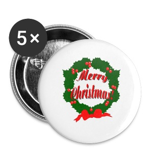 Merry Christmas Reef Button 5 Pack - Small Buttons