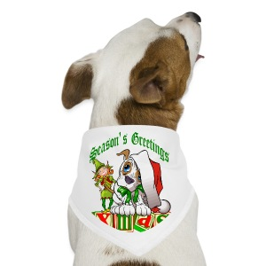 Season's Greetings Dog Bandana - Dog Bandana