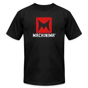 Machinima Logo Tee - Black  - Men's T-Shirt by American Apparel