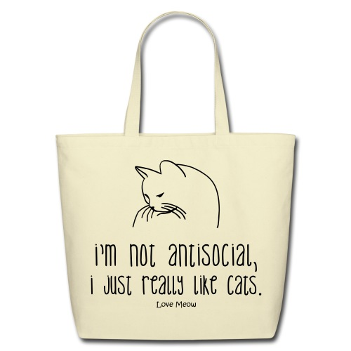 antisocial - Eco-Friendly Cotton Tote