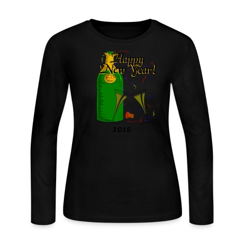 Happy New Year Long Sleeve Jersey T-Shirt For Women - Women's Long Sleeve Jersey T-Shirt