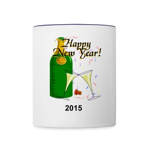 Happy New Year Ceramic Contrast Coffee Mug - Contrast Coffee Mug