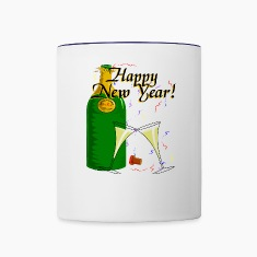 Happy New Year Bottles & Mugs