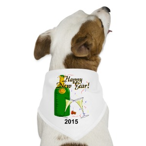 Happy New Year Dog Bandana - Dog Bandana