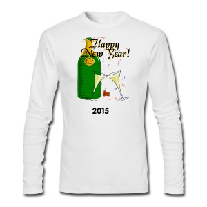 Happy New Year Long Sleeve T-Shirt For Men - Men's Long Sleeve T-Shirt by Next Level