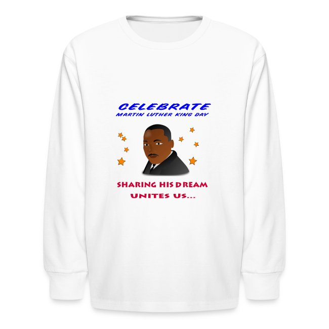 Martin Luther King Long Sleeve T-Shirt For Kids