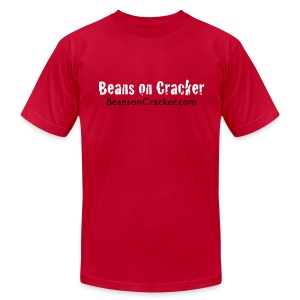 Premium Beans on Cracker Men's T-Shirt - Men's T-Shirt by American Apparel
