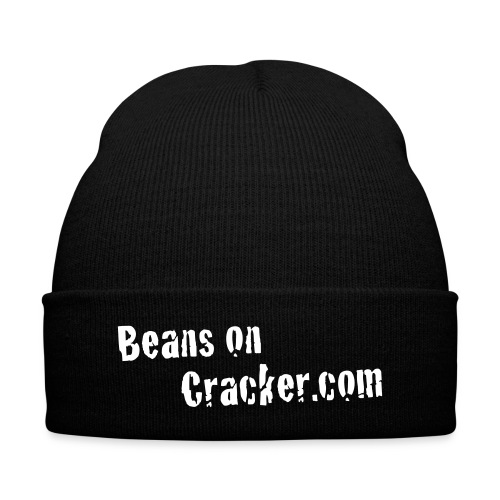 Beans on Cracker Beanie - Knit Cap with Cuff Print