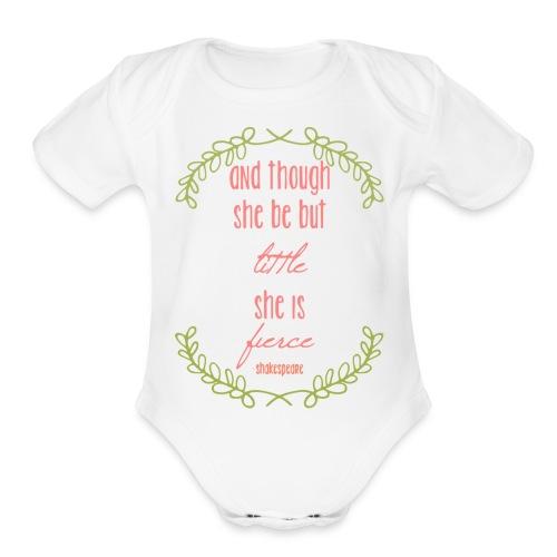 Little and Fierce - Organic Short Sleeve Baby Bodysuit