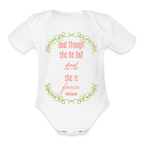 Little and Fierce - Organic Short Sleeve Baby Bodysuit