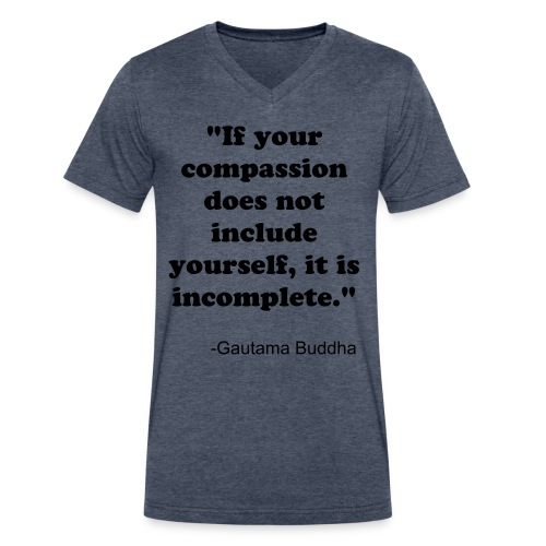 Self Compassion Men's  V Tee - Men's V-Neck T-Shirt by Canvas