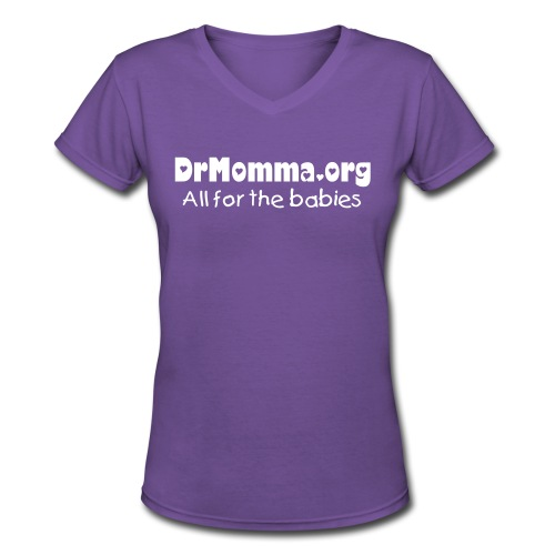 All for the Babies [Text Change Available] - Women's V-Neck T-Shirt