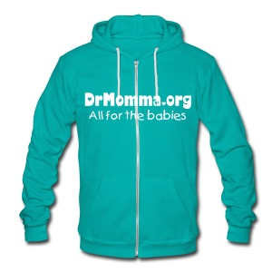 All for the Babies [Text Change Available] - Unisex Fleece Zip Hoodie by American Apparel