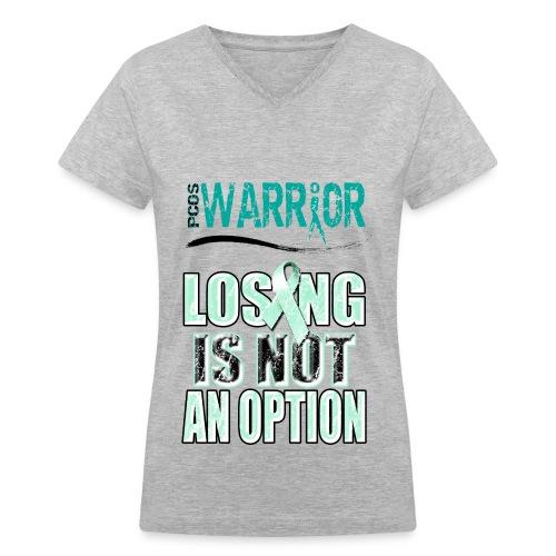PCOS Warrior  - Women's V-Neck T-Shirt
