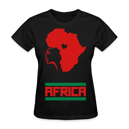 Female Africa Representer Tee - Women's T-Shirt