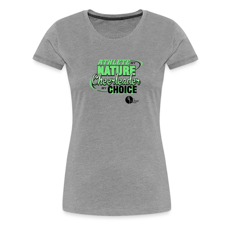 Athlete by Nature, Cheerleader by Choice - Women's Premium T-Shirt