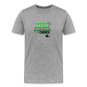Athlete by Nature, Cheerleader by Choice - Men's Premium T-Shirt