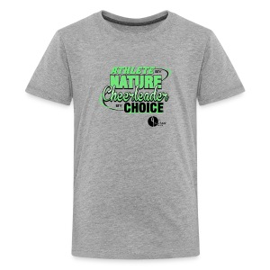 Athlete by Nature, Cheerleader by Choice - Kids' Premium T-Shirt