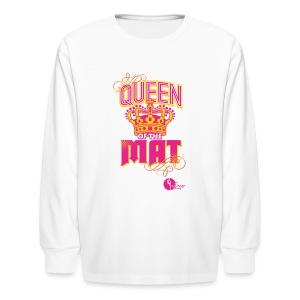 Queen of the Mat - Kids' Long Sleeve T-Shirt