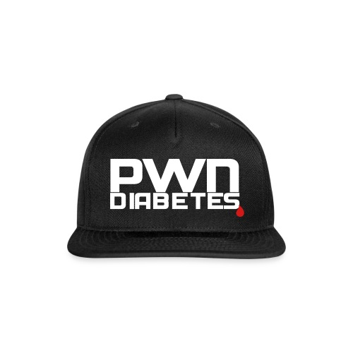 PWN Diabetes [Logo]   Snapback - Snap-back Baseball Cap