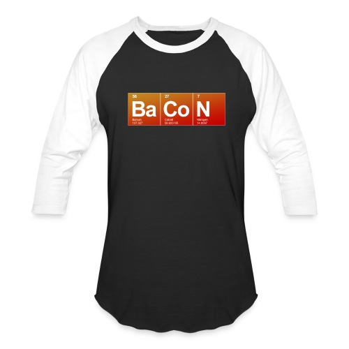Mens Bacon  - Baseball T-Shirt