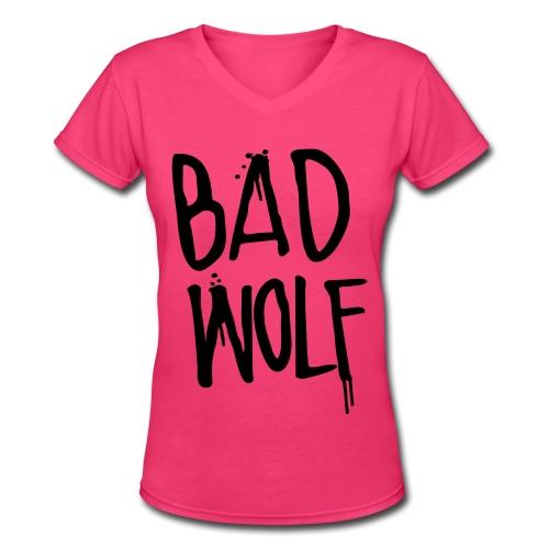 Womens Bad Wolf - Women's V-Neck T-Shirt