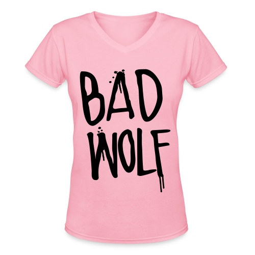 Womens Bad Wolf - Women's V-Neck T-Shirt