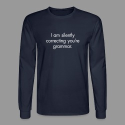Silent Correction - Men's Long Sleeve T-Shirt