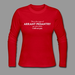 Arrant Pedantry - Women's Long Sleeve Jersey T-Shirt