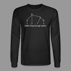 Better Living Through Syntax - Men's Long Sleeve T-Shirt