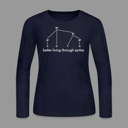Better Living Through Syntax - Women's Long Sleeve Jersey T-Shirt