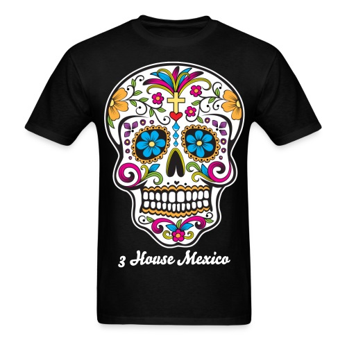 3 House Mexico Day of the Dead  - Men's T-Shirt