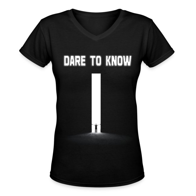 "Hybrid Librarian's ""DARE Tʘ KNOW"" Women's Shirt"