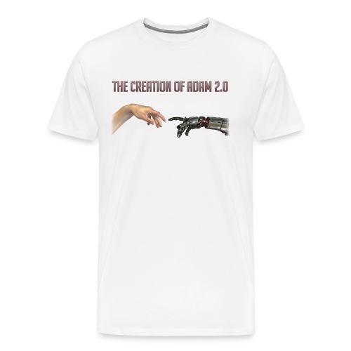 Hybrid Librarian's Creation of Adam 2.0 Men's T-Shirt  - Men's Premium T-Shirt