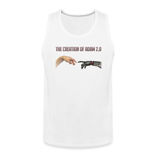 Hybrid Librarian's Creation of Adam 2.0 Men's Tank Top - Men's Premium Tank