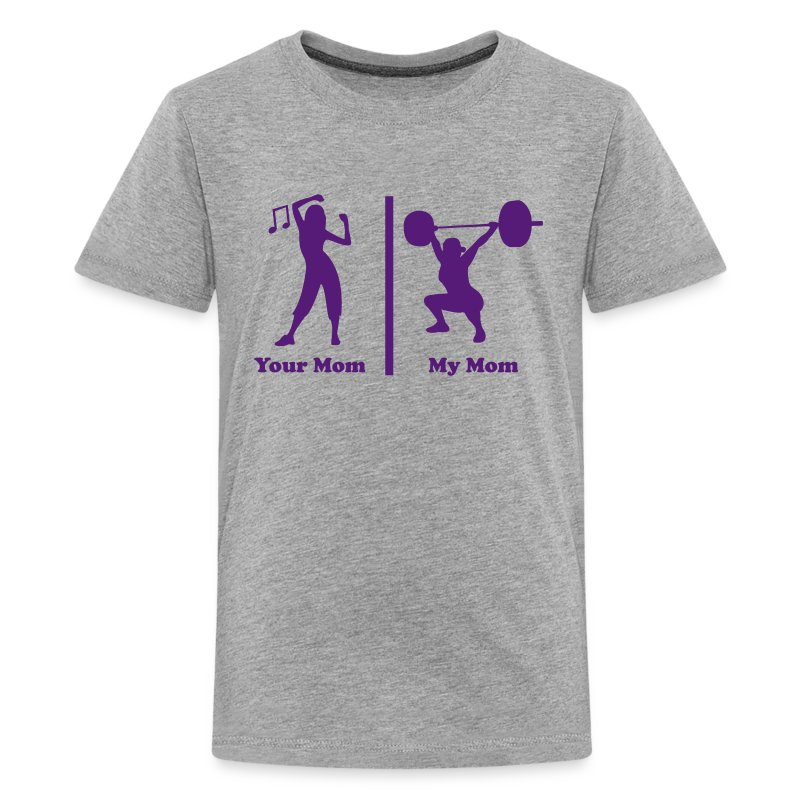 Euro Size T Shirt Cute Design Women Tshirts Fitness Ladies: Your Mom My Mom Funny Fitness T-Shirt