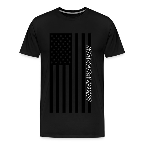 INT0XICATI0N APPAREL Flag graphic tee - Men's Premium T-Shirt