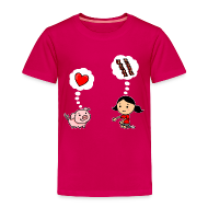 Baby & Toddler Shirts ~ Toddler Premium T-Shirt ~ For the Love of Bacon (Toddler)