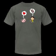 T-Shirts ~ Men's T-Shirt by American Apparel ~ Boys Love Bacon, Too (Men's)