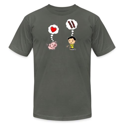 Boys Love Bacon, Too (Men's) - Men's Fine Jersey T-Shirt