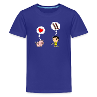 Kids' Shirts ~ Kids' Premium T-Shirt ~ Boys Love Bacon, Too (Kids)