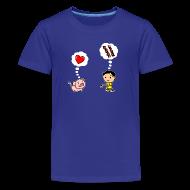 Kids' Shirts ~ Kids' Premium T-Shirt ~ Boys Love Bacon, Too (Kids)