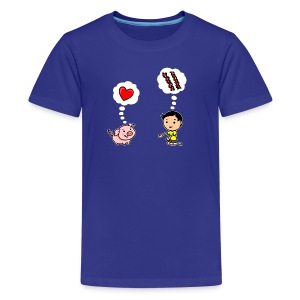 Boys Love Bacon, Too (Kids) - Kids' Premium T-Shirt