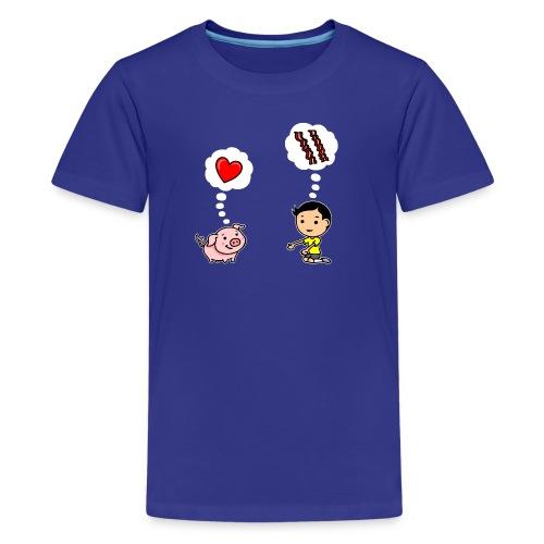 Boys Love Bacon, Too (Kids) - Kids' Premium T-Shirt