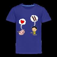 Baby & Toddler Shirts ~ Toddler Premium T-Shirt ~ Boys Love Bacon, Too (Toddler)
