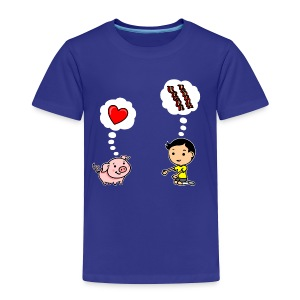 Boys Love Bacon, Too (Toddler) - Toddler Premium T-Shirt